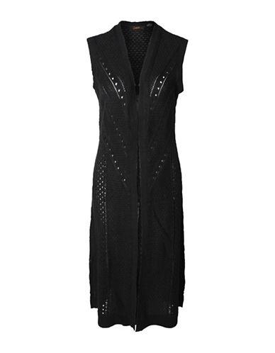 Dex Open Knit Sleeveless Cardigan-BLACK-Small 88461763_BLACK_Small