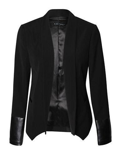 Fylo Open Front Tuxedo Blazer-BLACK-Medium