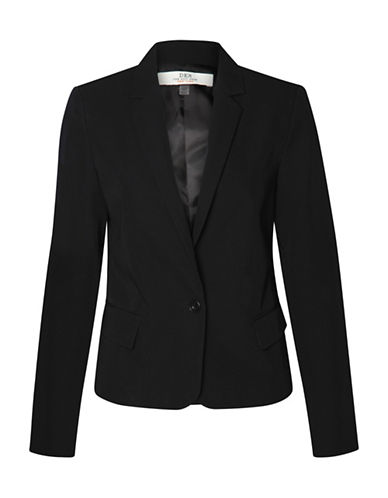 Dex One-Button Jacket-BLACK-Small