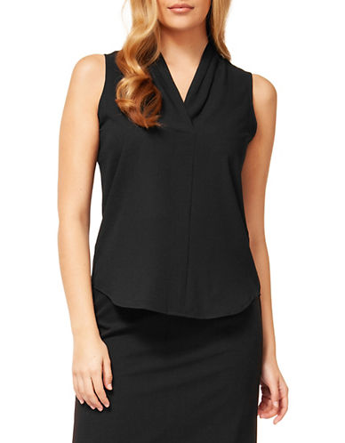 Dex Solid Woven Blouse-BLACK-X-Large 88563063_BLACK_X-Large