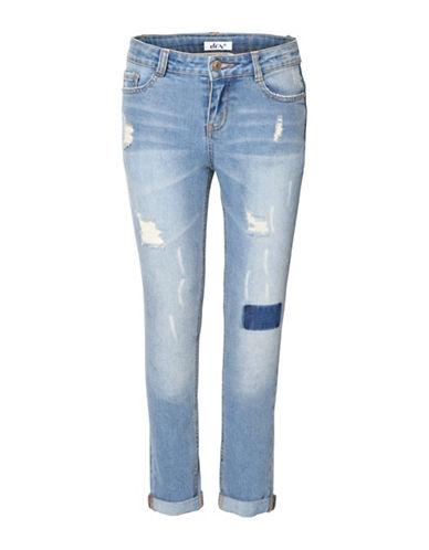 Dex Distressed Denim Pants-BLUE-Large 88537708_BLUE_Large