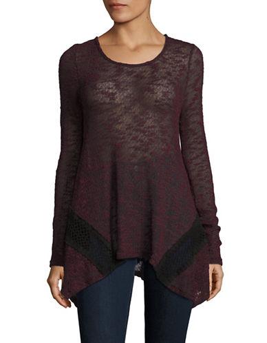 Dex Crochet Panel Handkerchief Top-RED-Small 88626206_RED_Small
