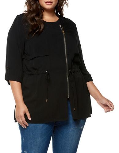 Dex Plus Zip Front Jacket-BLACK-3X