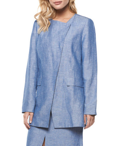 Dex Linen-Blend Chambray Jacket-LIGHT BLUE-Medium