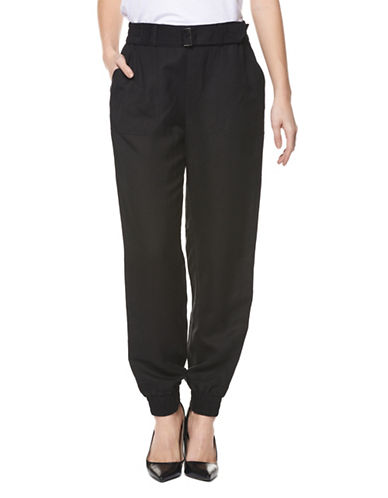 Dex Self-Belted Jogger Pants-BLACK-Medium 89192839_BLACK_Medium