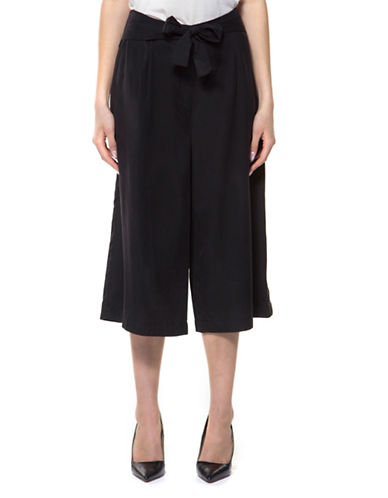 Dex Self-Sash Culotte Pants-BLACK-Small 89192834_BLACK_Small