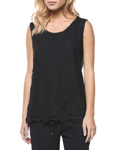 Dex Sleeveless Crochet Knit Top-BLUE-Medium 88992702_BLUE_Medium
