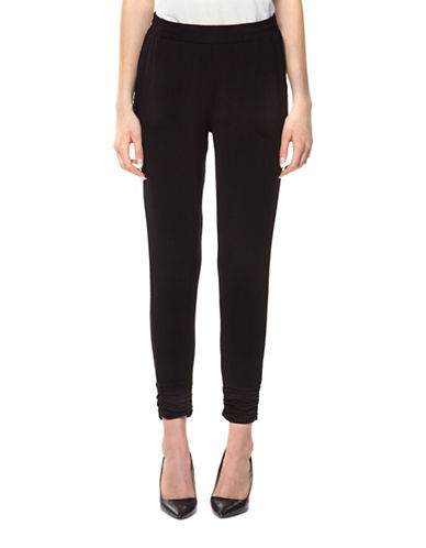 Dex Ruched Hem Pants-BLACK-Small 89143125_BLACK_Small
