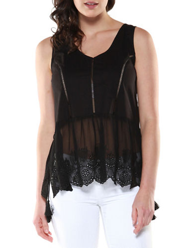 Dex Embroidered Babydoll Tank-BLACK-Small 89156975_BLACK_Small