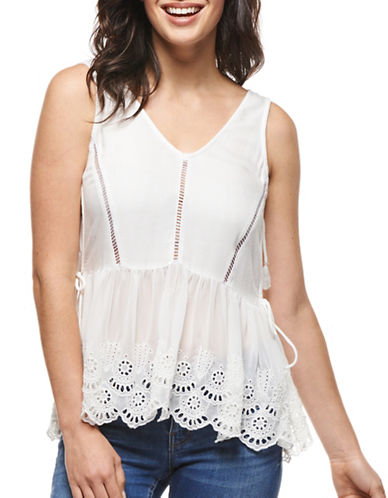 Dex Embroidered Babydoll Tank-WHITE-X-Small 89156978_WHITE_X-Small