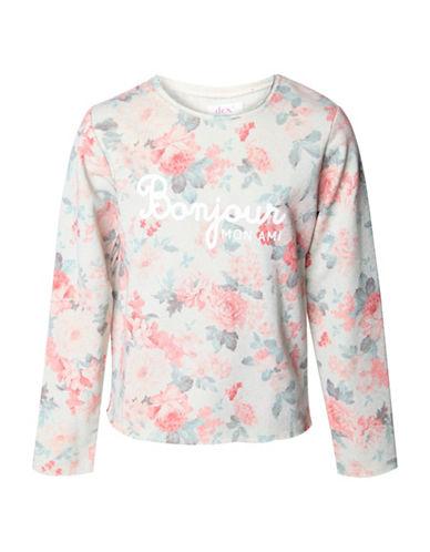 Dex Bonjour Mon Ami Floral Sweatshirt-GREY-Medium 88968444_GREY_Medium
