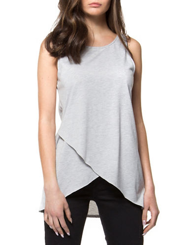 Dex Sleeveless Wrap Top-GREY-Large 89192936_GREY_Large