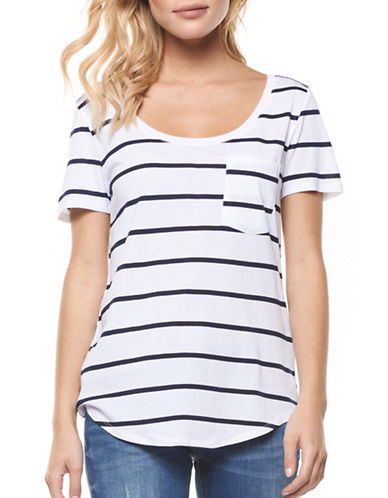 Dex Striped Knit Tee-WHITE-X-Small 89257325_WHITE_X-Small