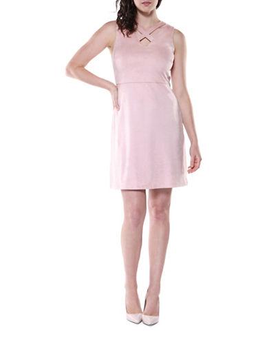 Dex Sleeveless Crisscross Strap Dress-TEA ROSE-Medium