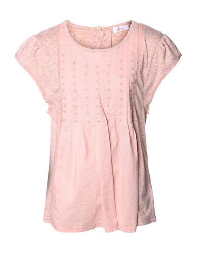 Dex Boho Crochet Tee-PINK-Small 88968454_PINK_Small