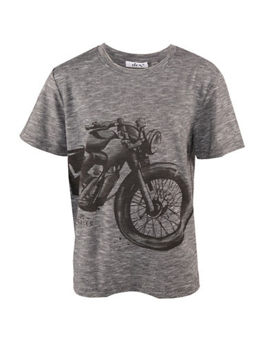 Dex Crew Neck Graphic T-Shirt-GREY-18-20