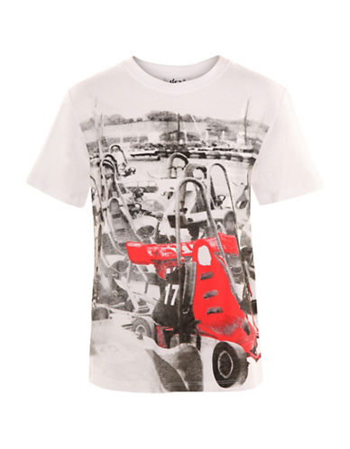 Dex Crew Neck Graphic T-Shirt-WHITE-8-10