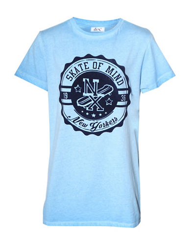 Dex Crew Neck Graphic T-Shirt-LIGHT BLUE-10-12