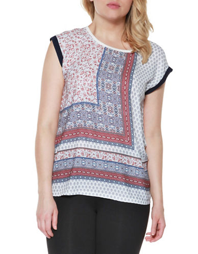 Dex Mixed-Print Top-MULTI-X-Large