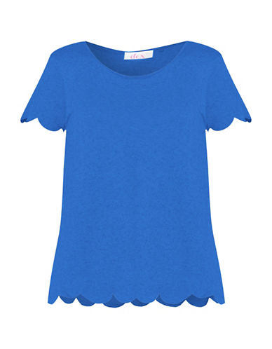 Dex Scalloped Hem Tee-BLUE-Large 88897675_BLUE_Large