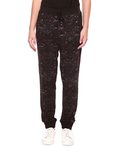 Dex Printed Relaxed Knit Pants-BURGUNDY-Small