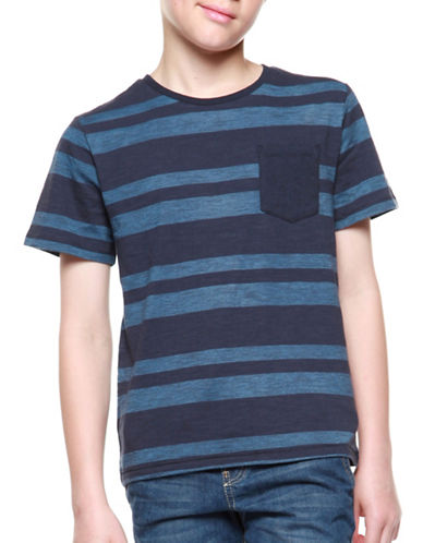 Dex Stripe Pocket Shirt-BLUE-14-16