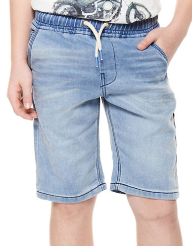 Dex Cotton-Blend Shorts-BLUE-14-16