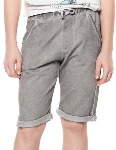 Dex Cotton-Blend Shorts-GREY-8-10