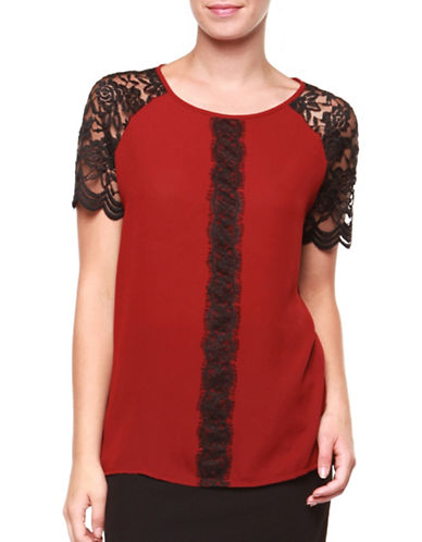 Dex Floral Lace Top-RED/BLACK-Large