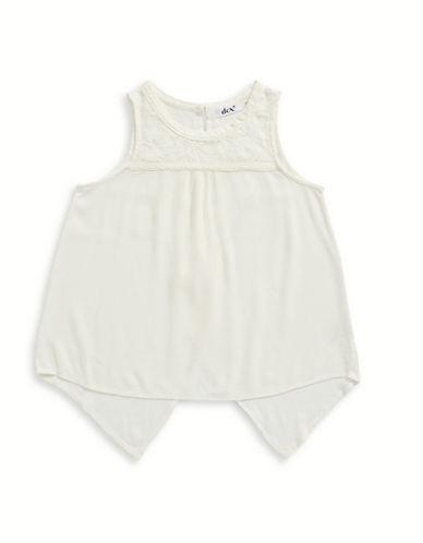 Dex Crochet-Trim Babydoll Top-WHITE-Large 89202987_WHITE_Large