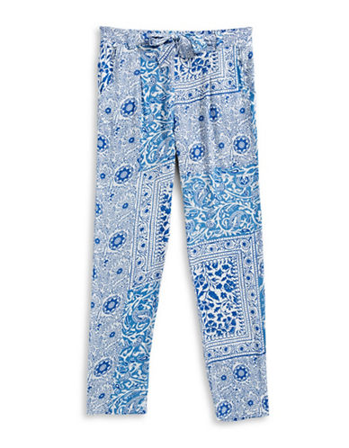 Dex Tapered Printed Pants-BLUE-Large 89175954_BLUE_Large