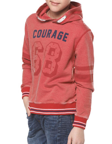 Dex Printed Knit Hoodie-RED-14-16