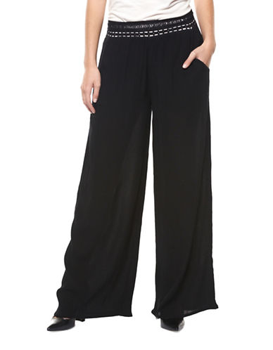 Dex Crochet Palazzo Pants-BLACK-Small 89160336_BLACK_Small