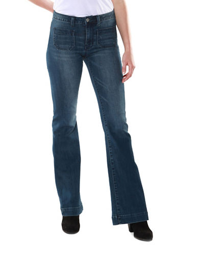 Dex Straight Leg Rolled Hem Jeans-BLUE-25