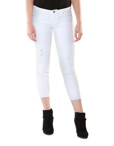 Dex Distressed Skinny Crop Jeans-WHITE-29