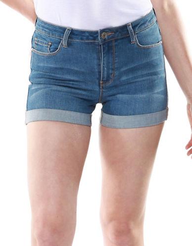 Dex High-Rise Denim Shorts-BLUE-24