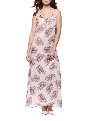 Dex Paisley Printed Maxi Dress-MULTI-Small