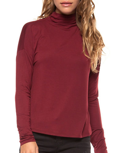 Dex Mockneck Tee-RED-X-Small
