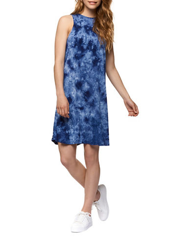 Dex Sleeveless Flared Dress-BLUE-X-Small