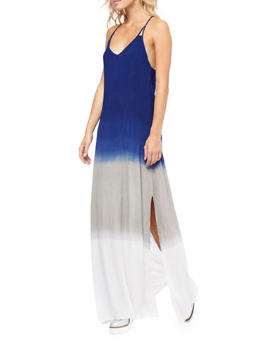 Dex Dip Dyed Maxi Dress-BLUE-Small