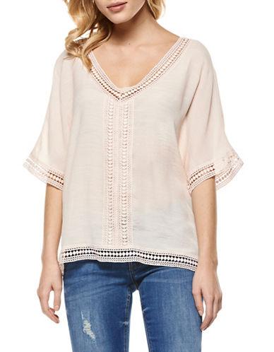 Dex Crochet Lace Tee-PINK-Medium 88980830_PINK_Medium