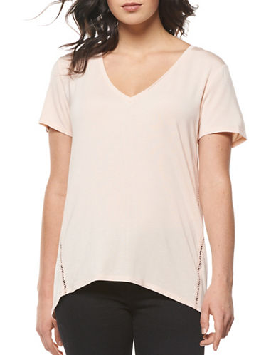 Dex Solid V-Neck Tee-PINK-Small 88980893_PINK_Small