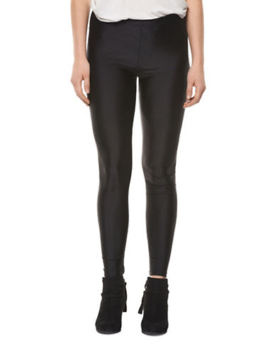 Dex Satin-Look Leggings-BLACK-X-Small 88980796_BLACK_X-Small