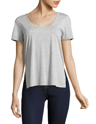 Dex Strappy Scoop Neck Tee-GREY-X-Small