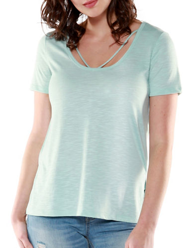 Dex Strappy Scoop Neck Tee-MINT-Medium