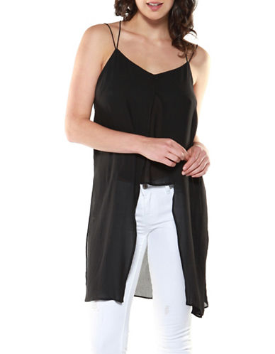 Dex Long Double Layer Tunic-BLACK-Large