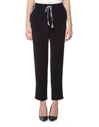 Dex Contrast Tape and Cord Pants-BLACK-Small