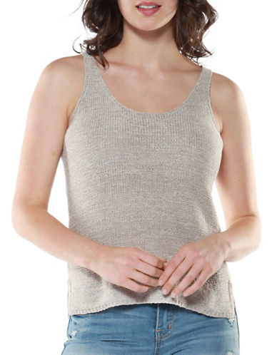 Dex Knit Vented Camisole-BEIGE-Medium