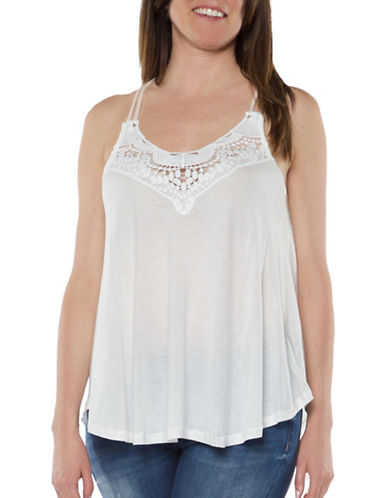 Dex Crochet Yoke Tank-NATURAL-X-Small