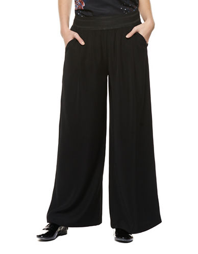 Dex Wide-Leg Pants-BLACK-Small